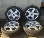 "Genuine Set (4) 16"" mini alloy wheels"