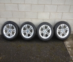 "Genuine Set (4) 16"" BMW 5 spoke alloy wheels"