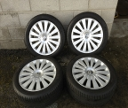 "Genuine set (4) 17"" Volkswagen Passat Highline alloy wheels"