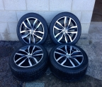 "Genuine Set (4) 17"" BRAND NEW Volkswagen Golf MK VII alloys"