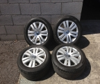 "Genuine Set (4) 16"" Volkswagen Passat highline Alloy Wheels"