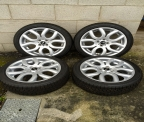 "Genuine Set (4) 17"" mini Flame Spoke alloy wheels"