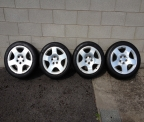 "Genuine Set (4) 17"" Audi Quattro polished alloy wheels  RARE!"